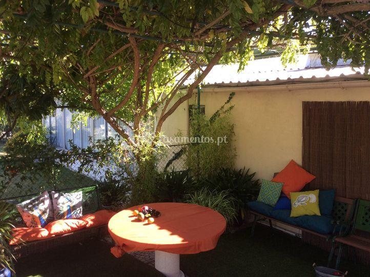Lounge pavão verde