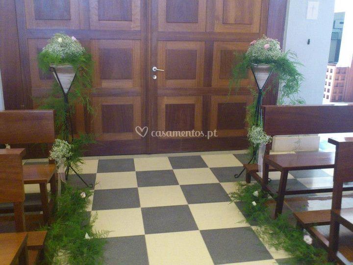 flores na entrada