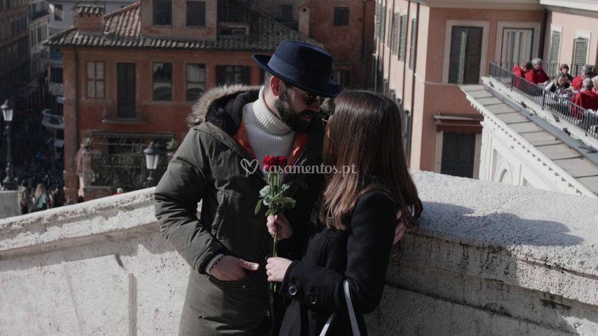 Bárbara e Deça em Roma