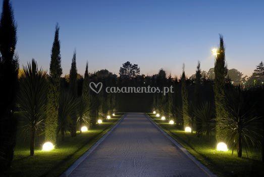Jardim à noite