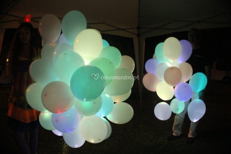 Largada de balões led