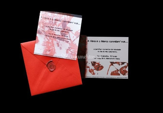 Convite envelope laranja