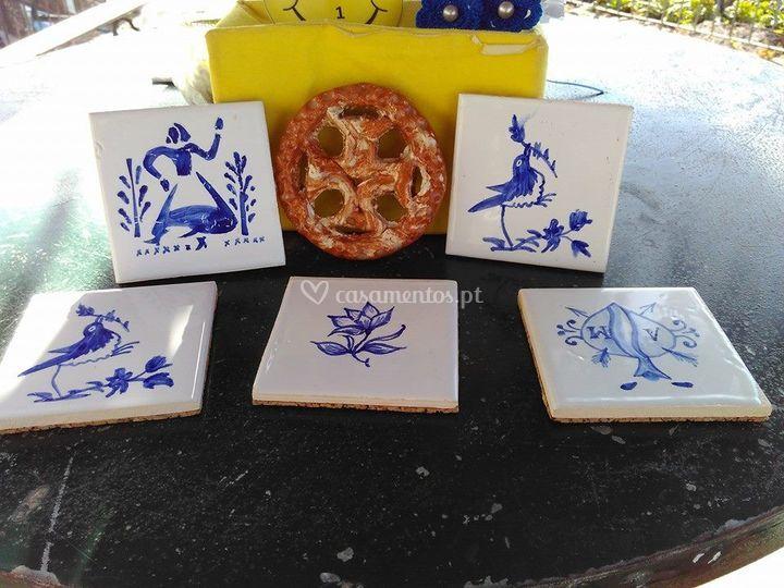 Azulejo pintado à mão