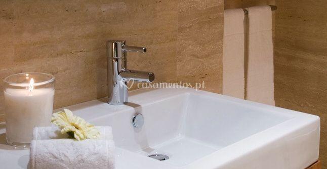 Detalhes do quarto de banho
