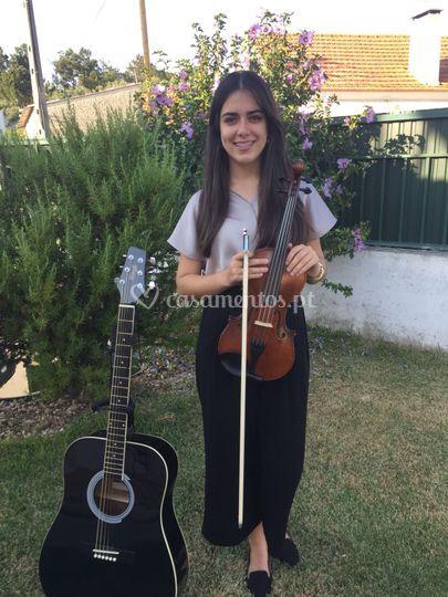 Violino, guitarra, voz