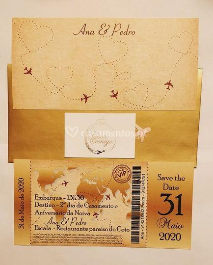 Convite bilhete