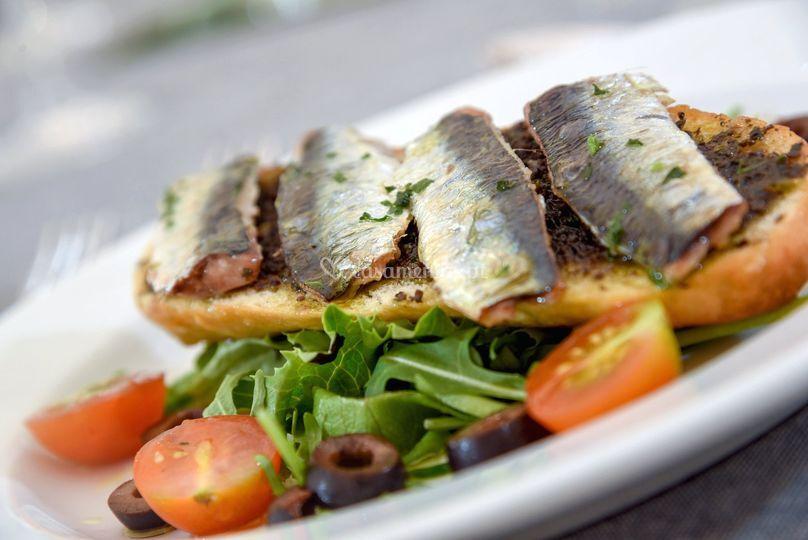 Brusqueta de sardinha