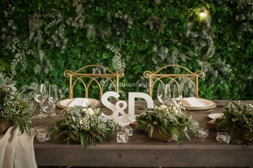 Pormenor mesa Noivos