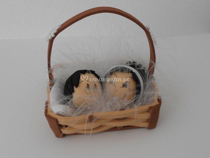 Lembrança - cesta de noivos
