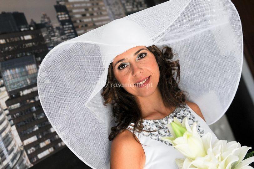 Noiva com chapéu