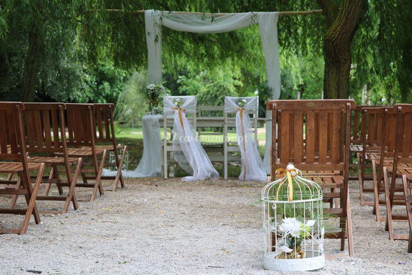 Cerimónia no Jardim Bíblico
