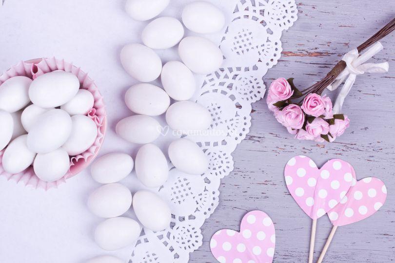 Amêndoas branco ou rosa