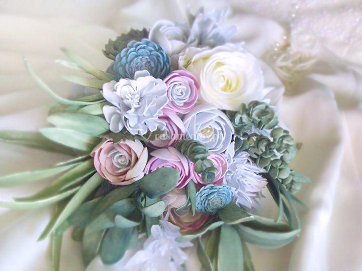 Bouquet de flores pastel