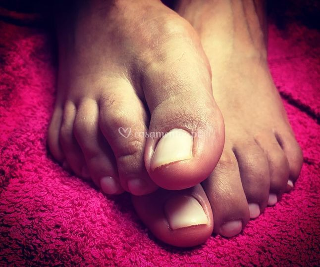 Pedicure com Verniz gel
