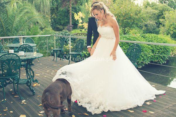 Noiva com o seu amigo