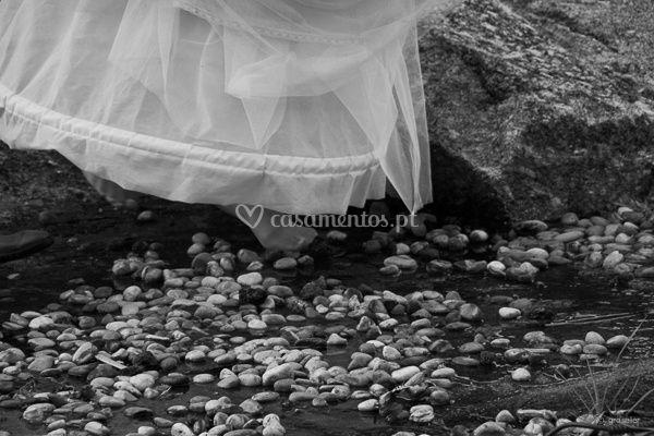 Noiva descalça