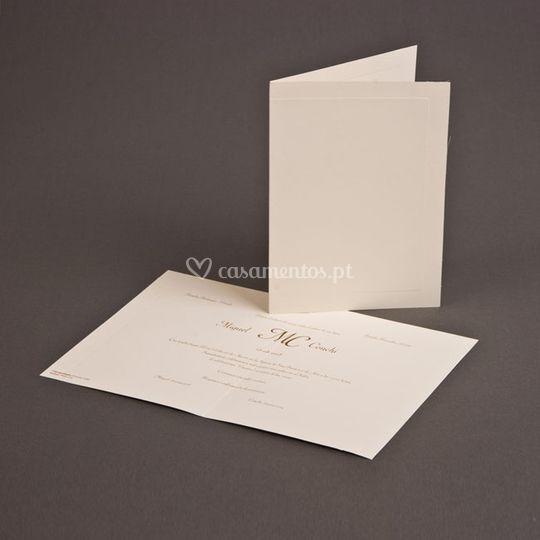 Convite com papel ecológico
