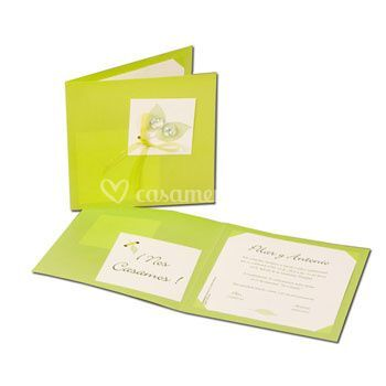 Convite em verde