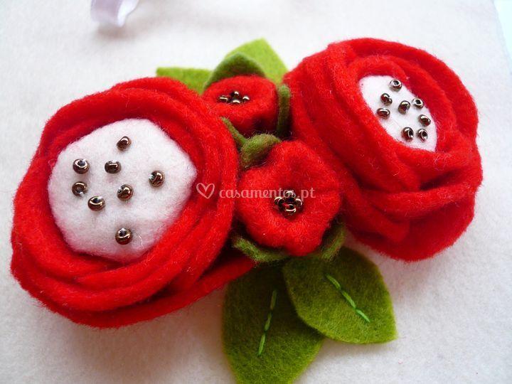 Almofada red roses