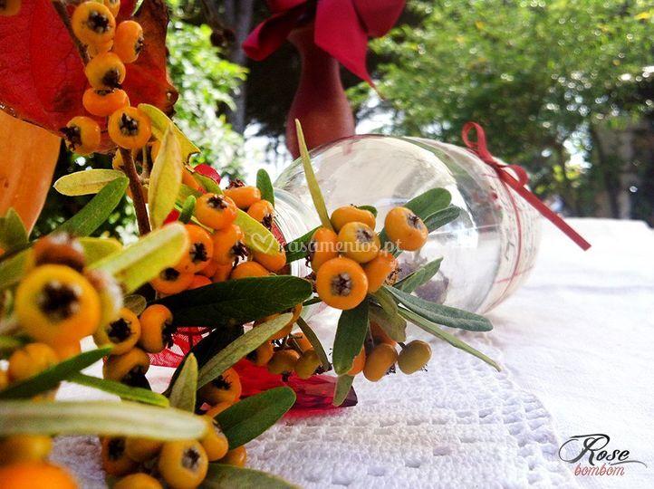 Pormenor arranjo floral