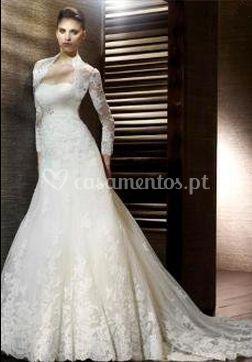 Elegante vestido de noiva