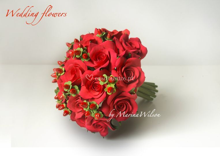 """Ramo """"Rosa vermelha"""""""