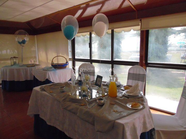 Centro de mesa (em balões)