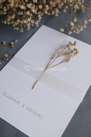 Convite minimalista