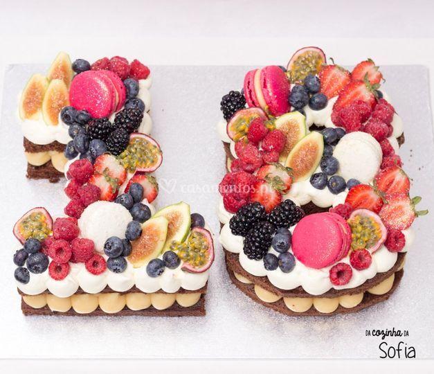 Numero com Fruta e Chocolates