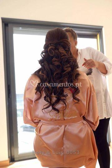 Noiva - maquilhagem e penteado