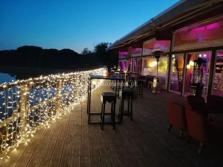 Deck iluminado