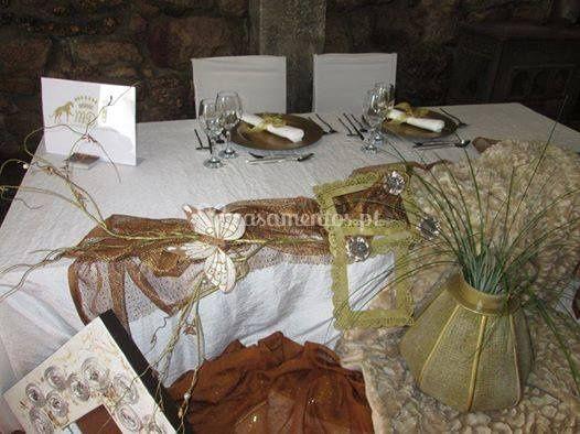 Decoraçao mesa principal