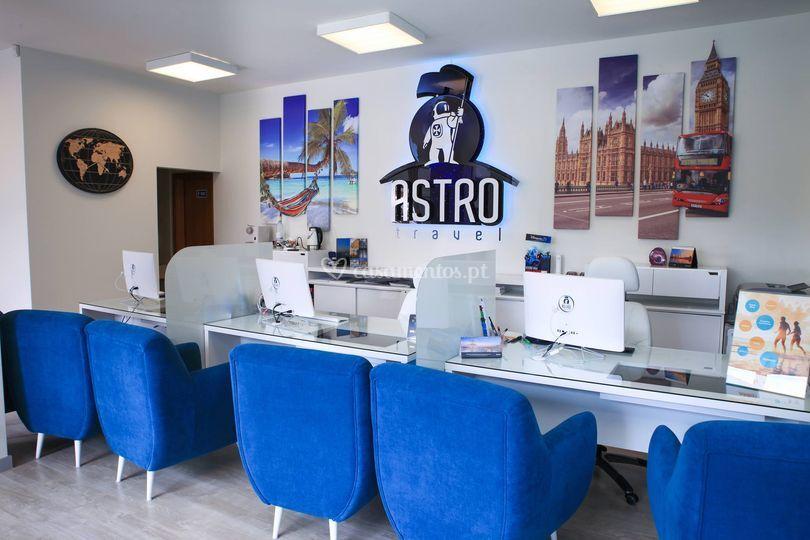 Astro Travel - balcão