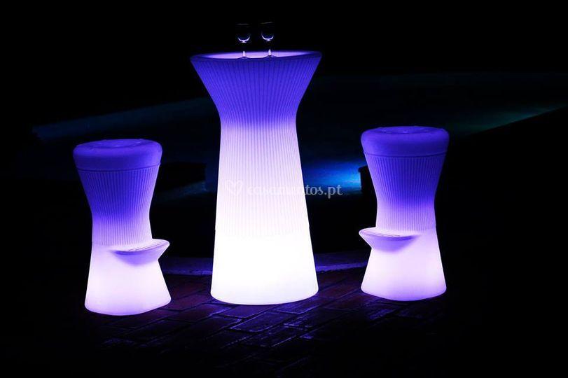 Mobiliário iluminado