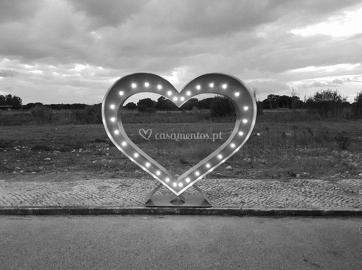 Coração iluminado