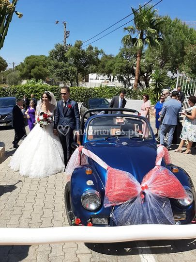Já casadinhos após a cerimonia