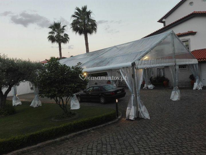 Tenda transparente 10x25