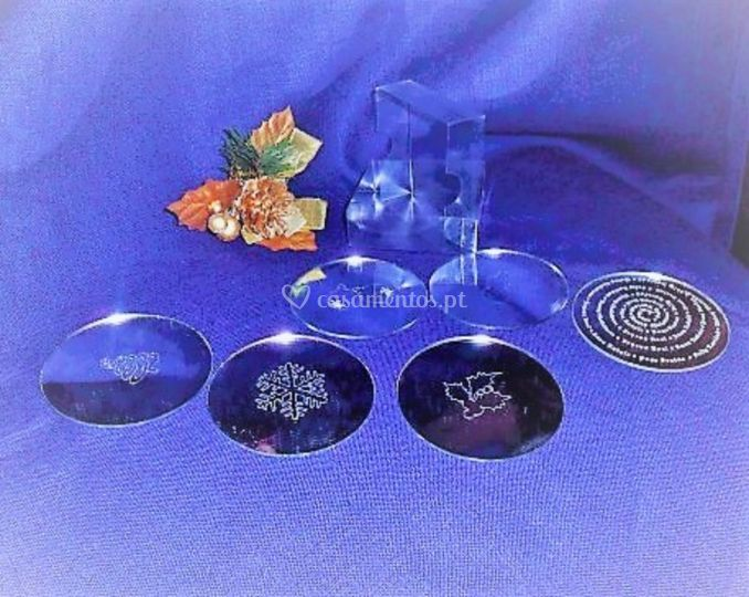 Base de copos personalizadas
