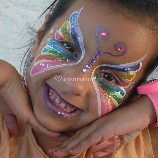 Pintura facial - borboleta