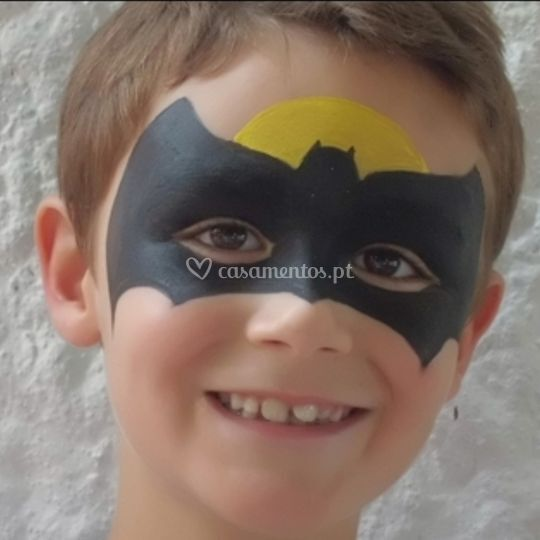 Pintura facial - batman