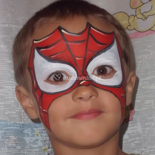 Pintura facial - spiderman