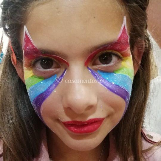 Pintura facial-rainbowcatmask