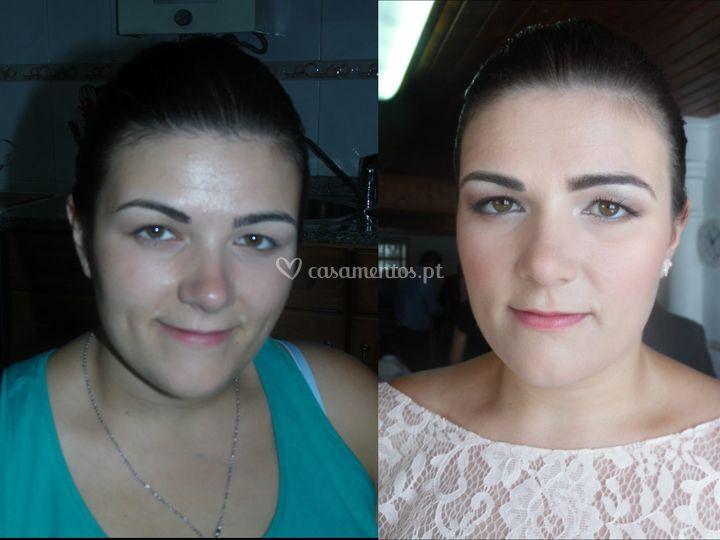 Antes e depois dama de honor