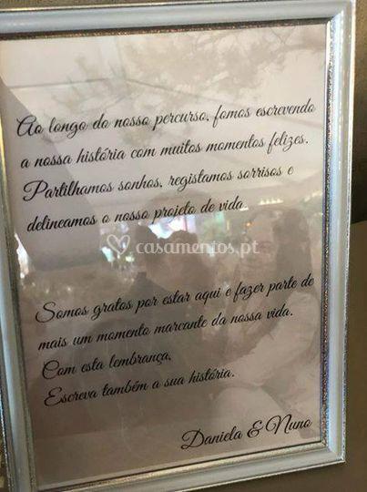 Mensagem para os convidados