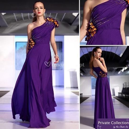 Vestido de cerimónia roxo de Private Collection