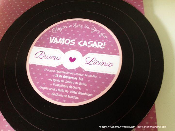 Convite - Tema música, disco