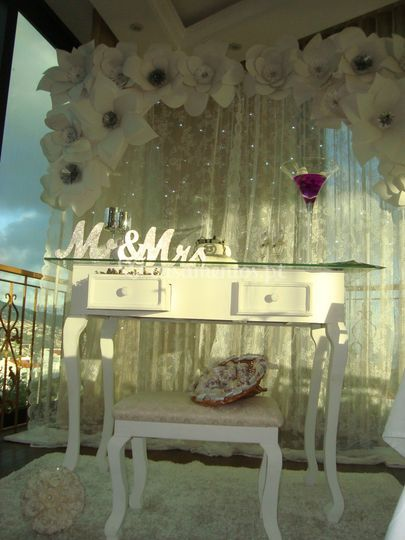 Mesa do bolo bodas