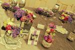 Mesa dos noivos pormenores