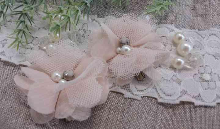 Gancho de flor de tule