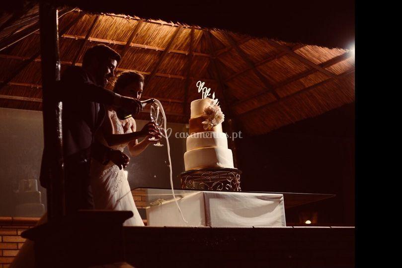 O momento de partir o bolo